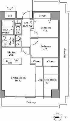 レジディア芝浦405号室