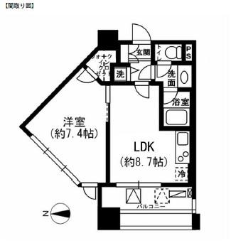 レジディア市ヶ谷1003号室