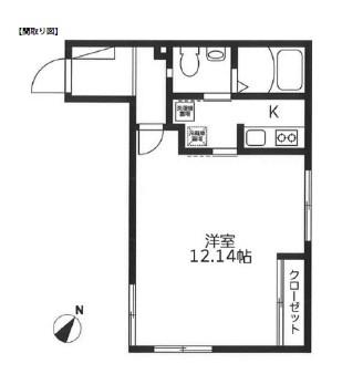 レジディア代々木204号室