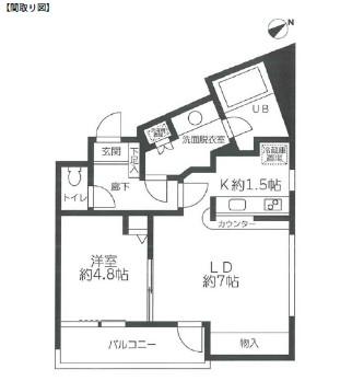 レジディア笹塚322号室