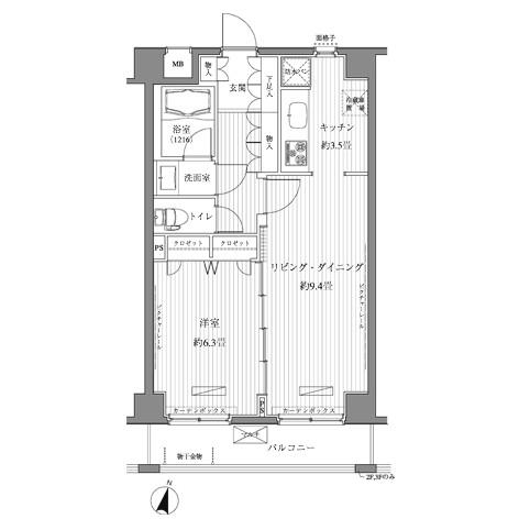メゾンカルム西新宿404号室