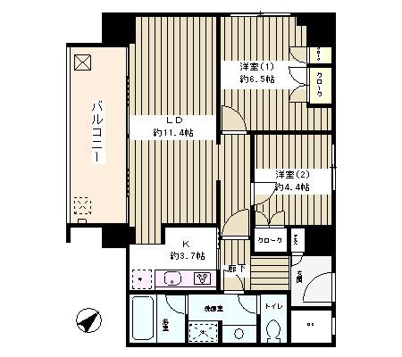 リバー&タワー1006号室