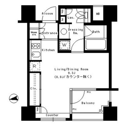 パークアクシス神楽坂ステージ101号室