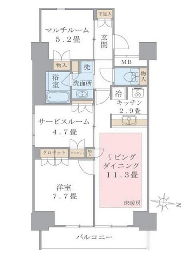 Brillia ist 東雲キャナルコート1215号室