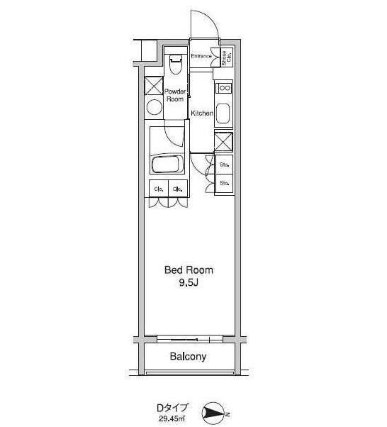 プラウドフラット初台105号室