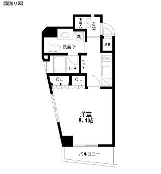 レジディア幡ヶ谷201号室