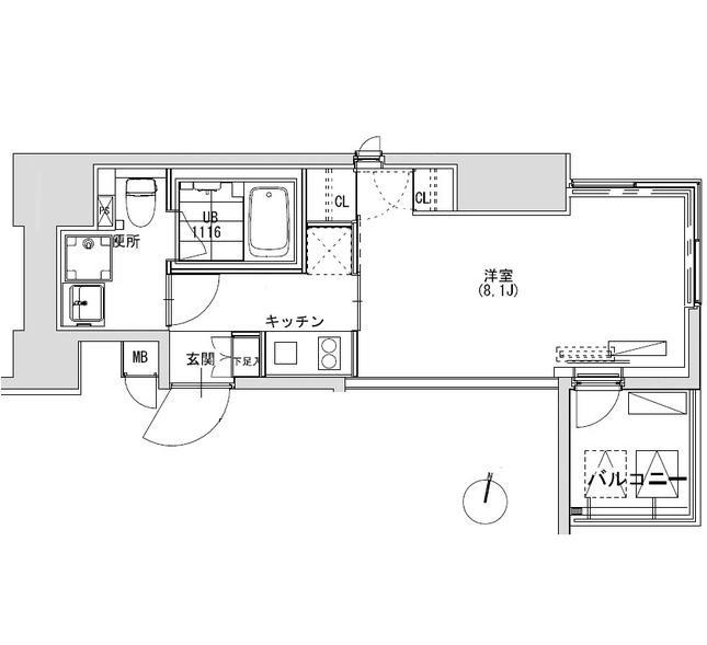 グランディオール広尾テラス1305号室