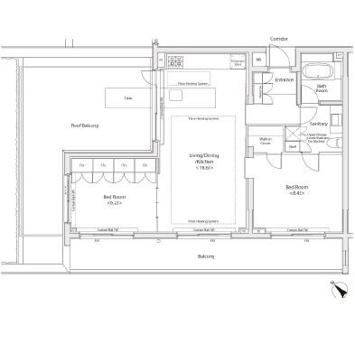 カスタリア初台Ⅱ503号室