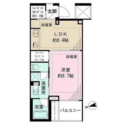ザ・パークハウス広尾羽澤219号室