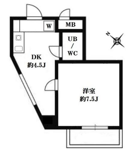 セゾン代官山411号室